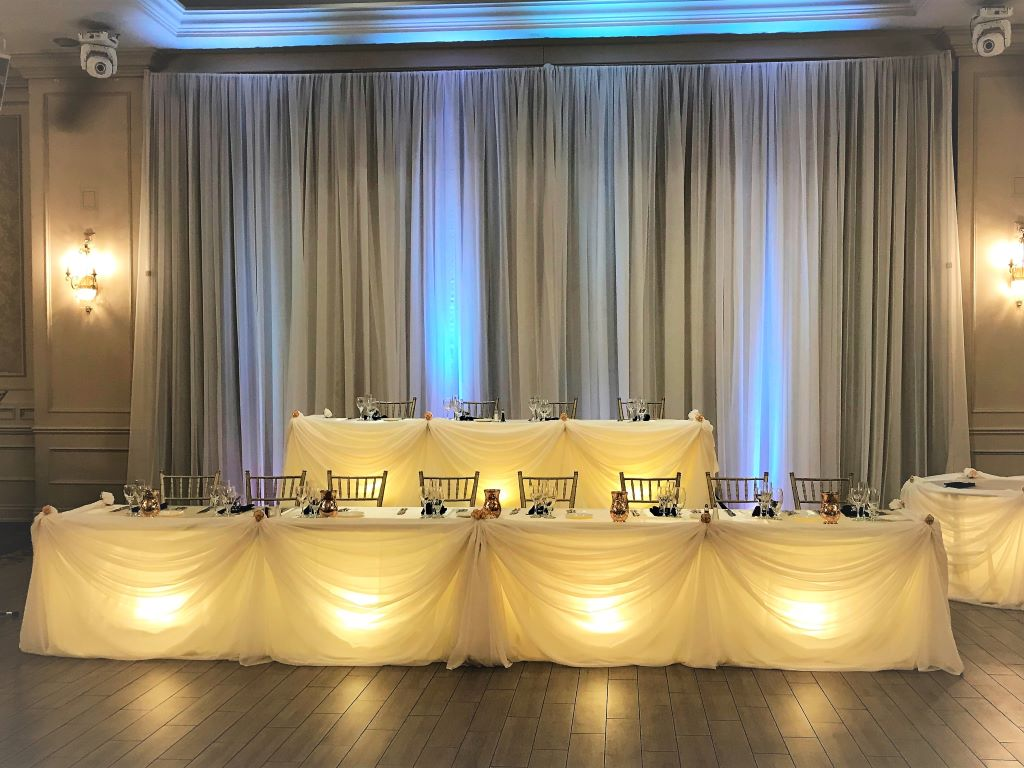 Traditional Sheer 2-Tier Head Table