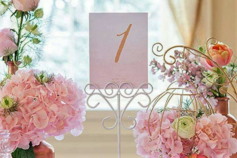 White Ornamental Table Numbers