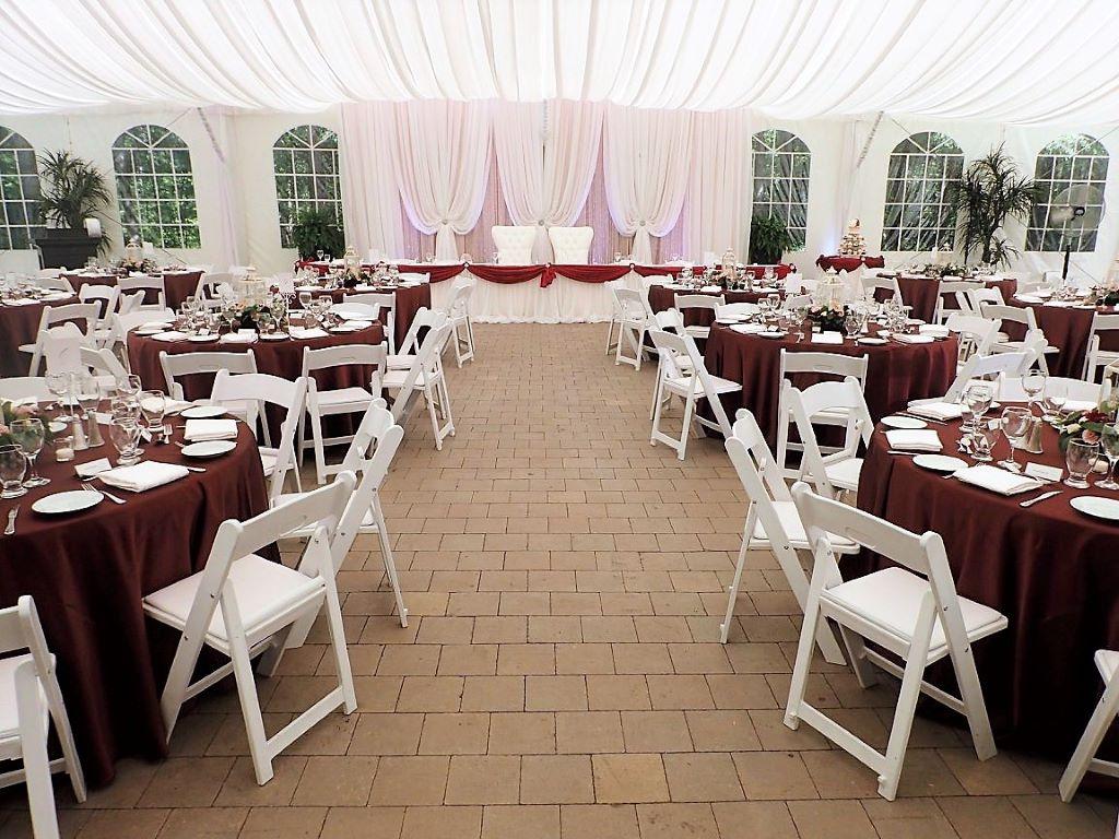 Burgundy & White Tent Wedding