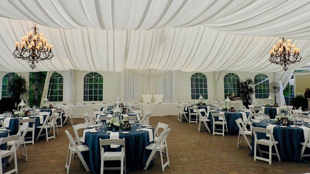 Tent Liner 50' wide custom tent