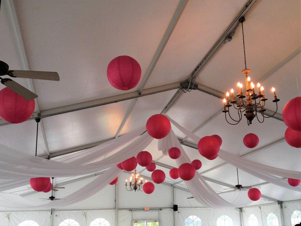 Fuschia Paper Lantern Tent Decor