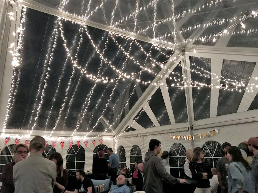 Starry Night Ceiling Clear Span Tent Decor