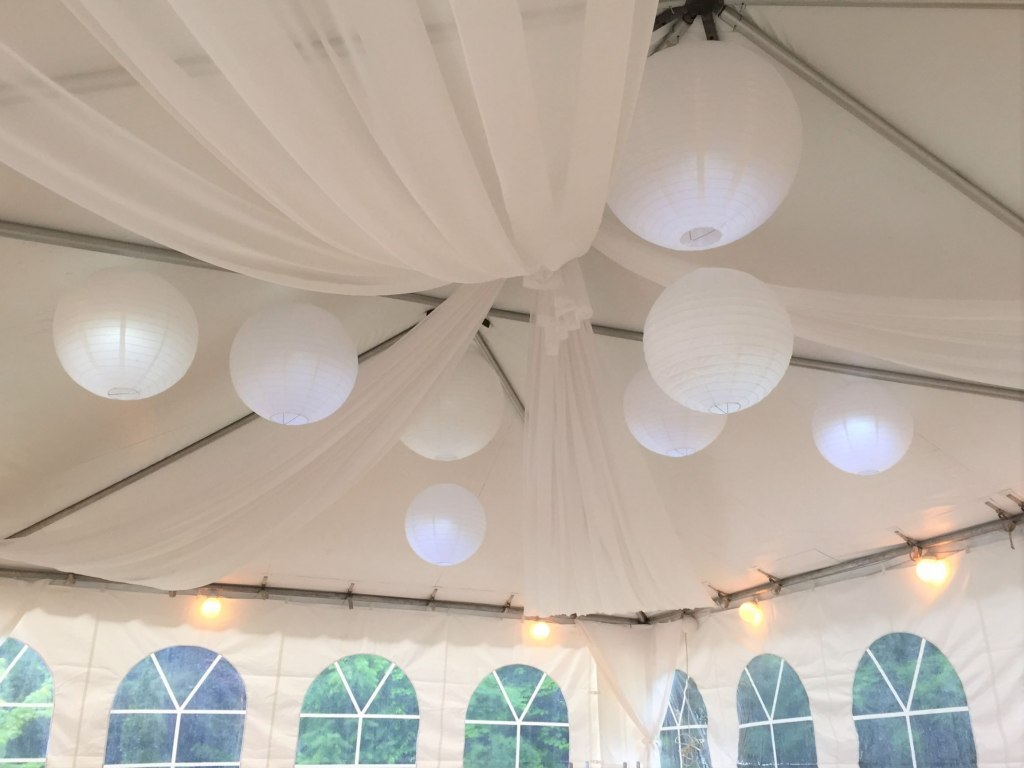 Sheer Tent Swags & Paper Lanterns