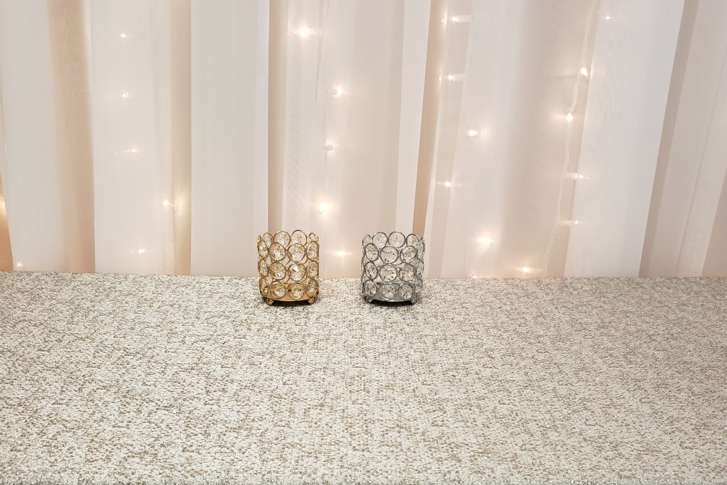 Gold & Silver Crystal Votives
