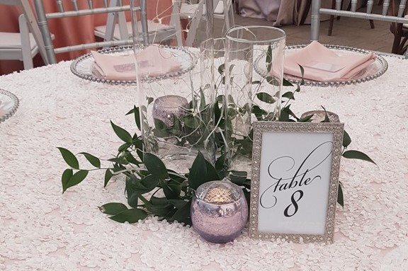 Lavender Lace Votives